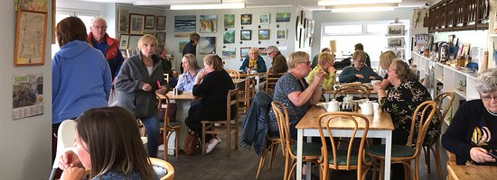 The Drift Cafe: Internal view of the Drift Café, Cresswell