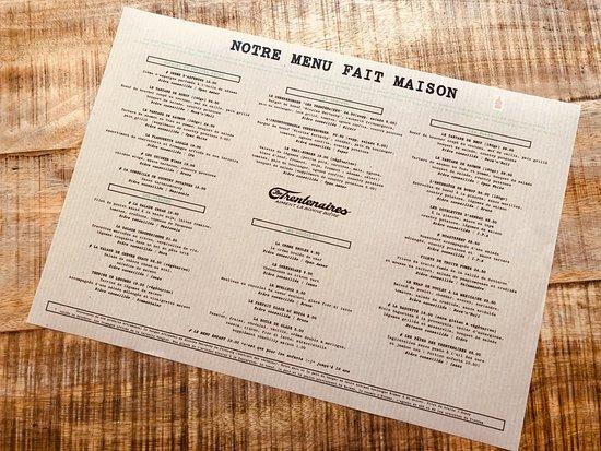 Notre Nouvelle Carte Avec Le Label Fait Maison Picture Of Les Trentenaires Fribourg Tripadvisor