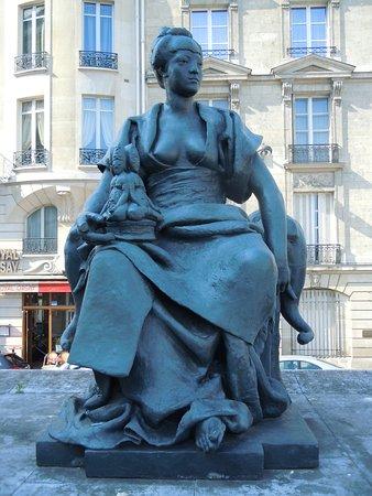 Statue Les Continents-L'Asie