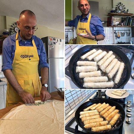 Istanbul Cooking School: Rolling cheese stuffed borek