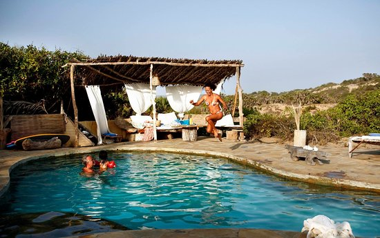 Kau, Kenya: Our pool that refreshes during a day in the sun.