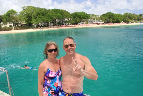 Cool Runnings Catamaran Cruises: Me with she who must be obeyed