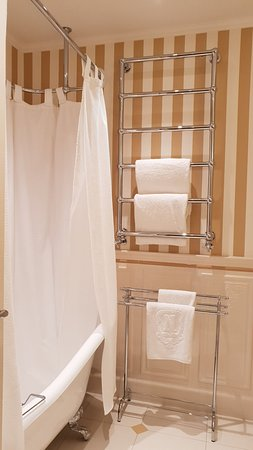 Hotel Negresco: Heated rack to dry up your towels