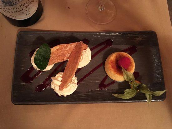 Turquant, France : Arlettes croustillantes, crème brûlée patate douce