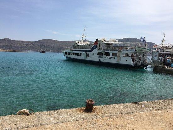 Gramvousa, Греция: De boot