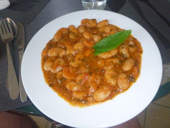 Skala Prinou, Grækenland: wonderful greek beans in sauce