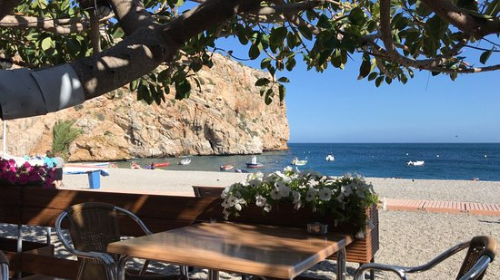 Calahonda, Spain: Las vistas desde nuestra mesa