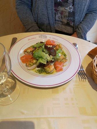 salade noix de saint jacques saumon un régal