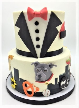 Cool Maryland Baltimore Themed Grooms Cake By Flavor Cupcakery Personalised Birthday Cards Epsylily Jamesorg