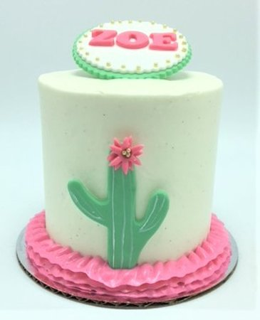 Cool Cactus Fiesta Themed Girls Birthday Cake By Flavor Cupcakery Birthday Cards Printable Opercafe Filternl