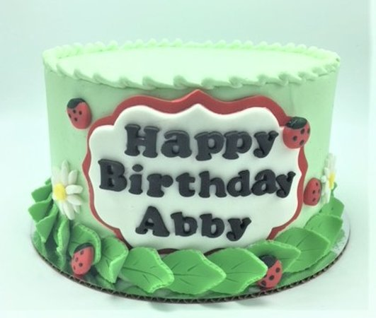 Peachy Ladybug Themed Springtime Girls Birthday Cake By Flavor Cupcakery Funny Birthday Cards Online Fluifree Goldxyz
