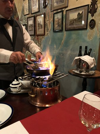 Restaurant U Modre kachnicky: Crepe Suzette