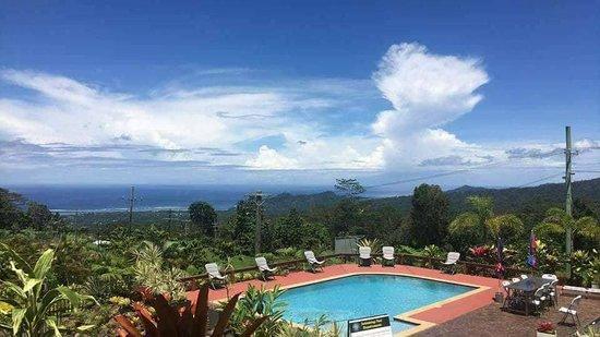 Skyview Villas: Ocean view from pool