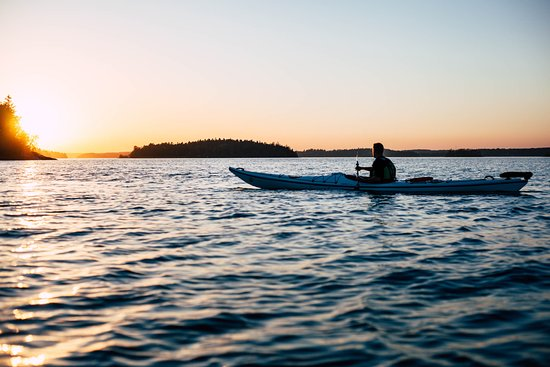 Evening paddling close to Vaxholm island
