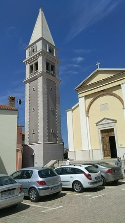Vrsar, Croatia: Saint Martin Church and bell tower with viewing area
