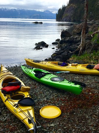 Kayaks are available for rent at Kayakers Cove or bring your own.