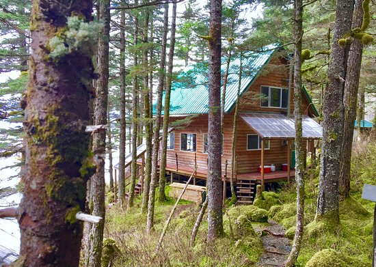 One of three lodging options at Kayakers Cove. Two private cabins and one hostel-style lodge.