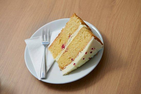 Holwood Farm Coffee Shop: Raspberry & White Chocolate Cake
