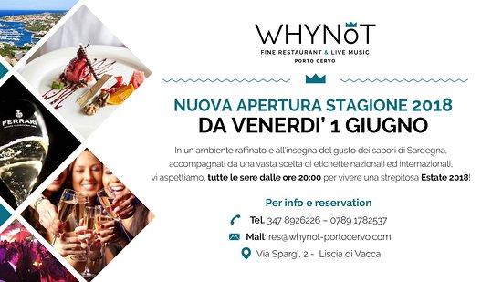Liscia di Vacca, Italien: Apertura Estate 2018!