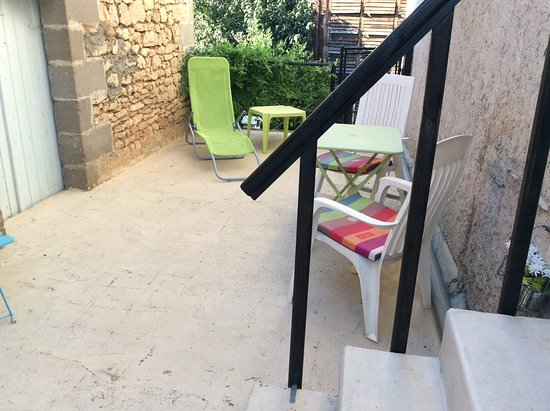 Valojoulx, France: Studio terrace private