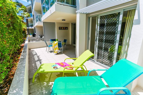 Coolum Beach, Australien: ground floor patio 2 bedroom apartment