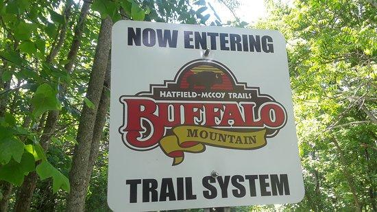 Williamson, Virginia Occidental: trail head signage