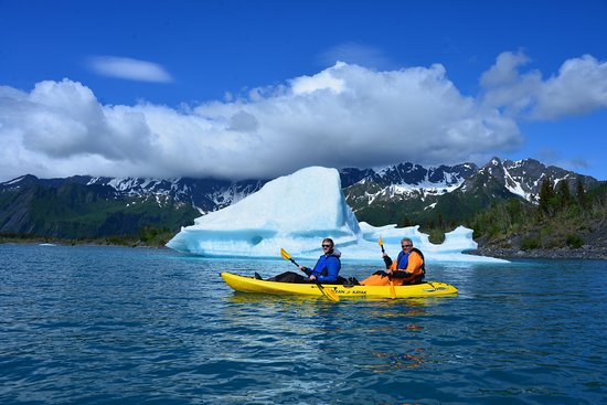 Glacier kayaking excursion from Summit Lake Lodge