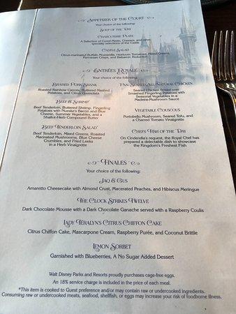 Cardápio Picture Of Cinderellas Royal Table Orlando TripAdvisor - Cinderella's royal table prices