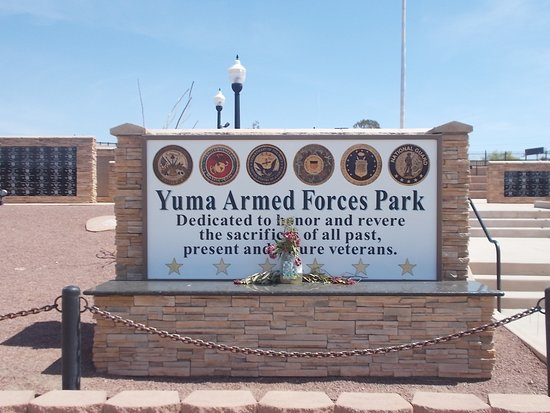 Yuma Armed Forces Park, Yuma, Arizona.