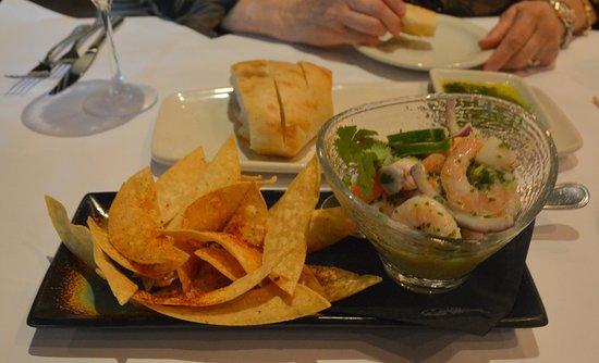 Bonefish Grill: Cevocje with loads of Shrimp