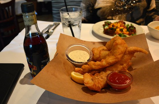 Bonefish Grill: Cod Fish and Chips with Malt Vinegar on the Side