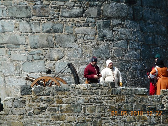 Harlech, UK: these people travel around doing re-enactments