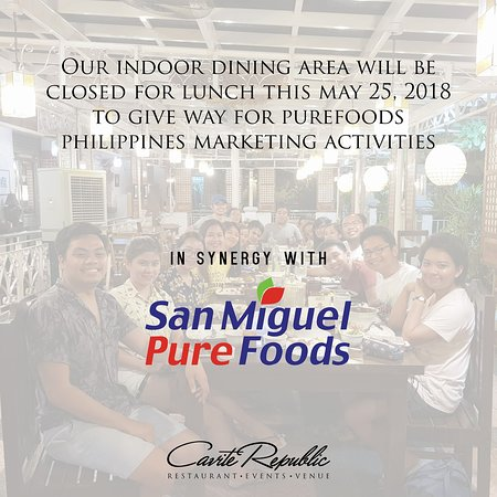 Trece Martires, Philippines : Our outdoor dining area will be ooen today! (May 25, 2018)