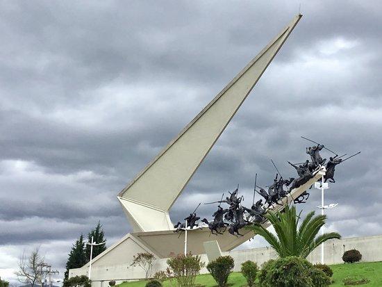 Pantano de Vargas  Monumento a los 14 lanceros: Pantano de Vargas Monument