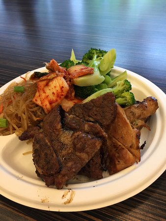 Sorabol Korean BBQ & Asian Noddles: short rib and barbecued chicken