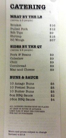 Munster, IN: catering menu
