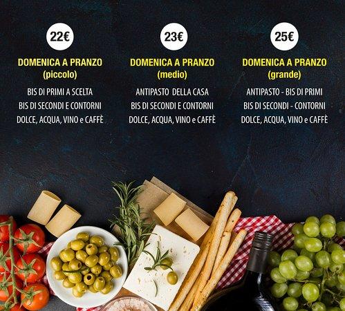 San Marcello, Itália: Il nostro menù della Domenica a Pranzo