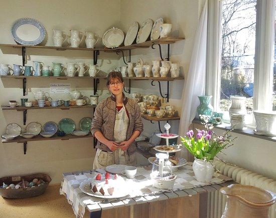 Kajsas Konst & Keramik: Interior from shop with potter Kajsa Leijström