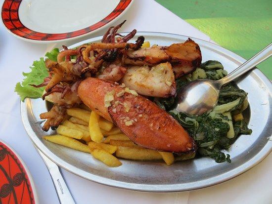 Zlarin Island, Chorwacja: un des plats au fruit de mer