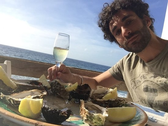 Pizzolungo, อิตาลี: Oyster, mussels and prosecco