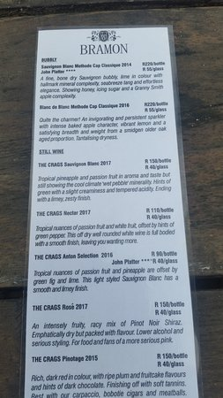 Bramon Wine Estate: Wine List