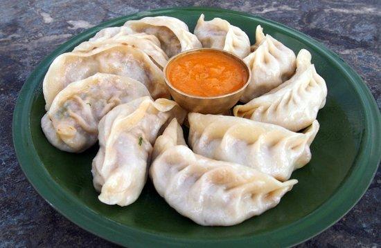Delicious MO:MO, authentic Nepalese at Gurkha Kitchen Praia Do Carvoeiro