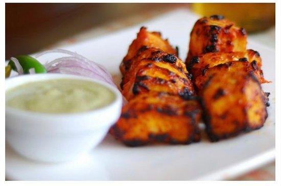 Gluten free dish available at Gurkha Kitchen Carvoeiro