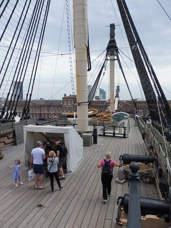 HMS Victory: The deck.