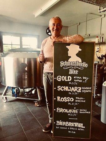 """Restaurant Alte Brennerei und Kulturbrauerei Schwarzbuebe Bier: Die Schwarzbuebe Bier Bier """"Familie"""""""