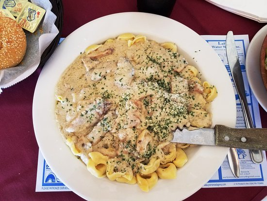 Sidney, NY: Alfredo Chicken Over Tortellini