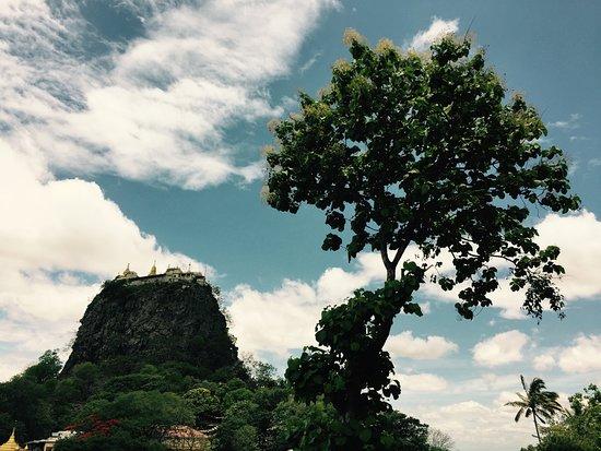 Mount Popa from below