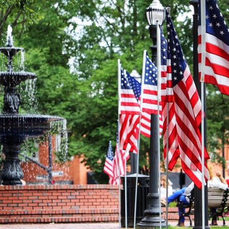 Love how Marietta Square dresses up for Memorial Day!