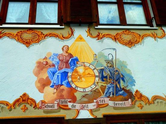 Geburtshaus von Ludwig Thoma : Casas decoradas en Oberammergau