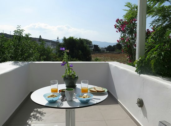 Psathi, Greece: Breakfast room terrace